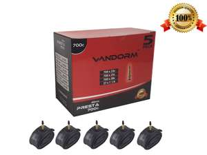 5 x ANY SIZE INNER TUBE Vandorm Bike Inner Tubes For £11.99 delivered DOWN From £29.99 @ Amazon - Dispatched from and sold by WoollyHatShop