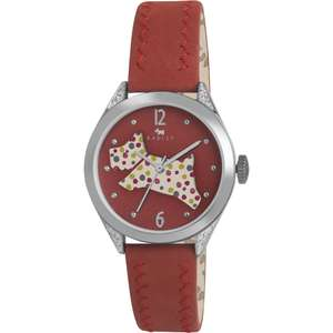 Radley Ladies Red Leather Strap Watch was £85 now £39.99 with Free Next Day Delivery using code @ Watches2U (also Orla Kiely Ladies Patricia Stem Print Yellow Leather Strap Watch £34.99 with code)