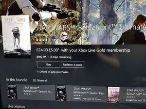 Star wars battlefront ultimate xboxone for £5