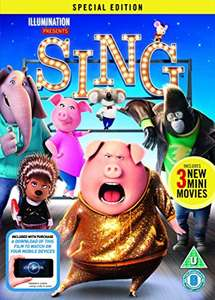 Sing Special Edt DVD @ Amazon £6.49 Blu Ray £7.49 (Prime or add £1.99 non-Prime)