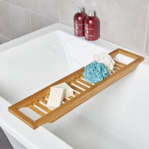 Wooden Bath Tray Holder Rack Caddy Bath Tray Sold by sas_products @ebay 8.95 delivered