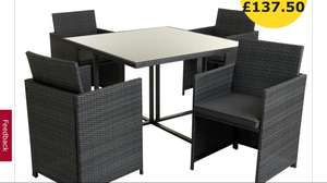 Wilko rattan effect cube set 4 seater now reduced to £137.50 + £8 P&P