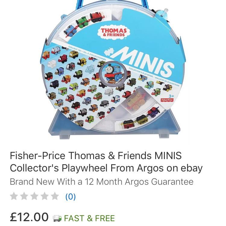 Thomas Minis Storage Case / Wheel - FREE P&P at Argos Ebay Outlet £12