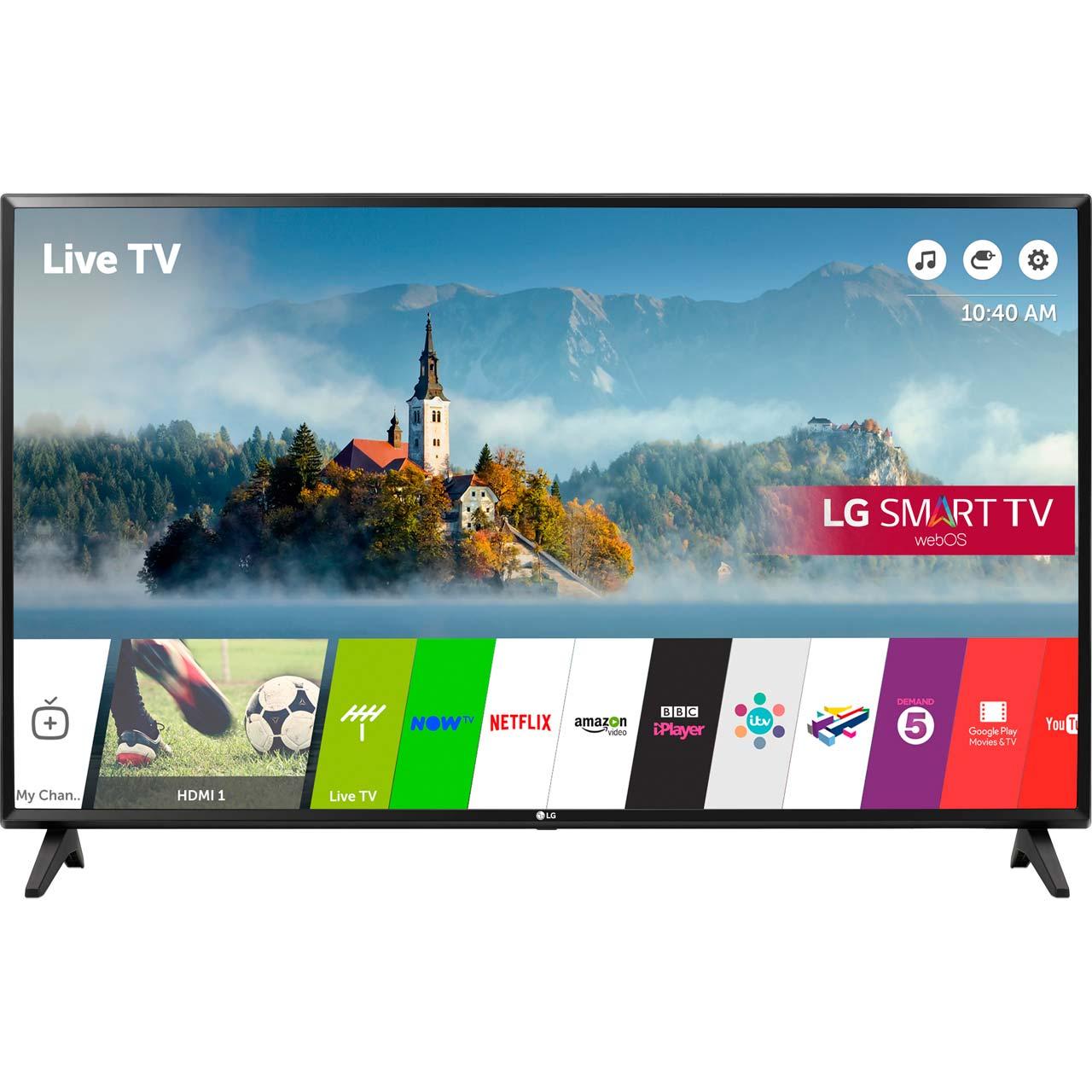"LG 49LJ594V 49"" Freeview HD 1080p, Freesat HD, Freeview Play Smart TV - Black £359 using code @ AO"