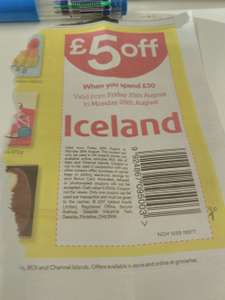 Iceland £5 if you spend £30 .Coupon in London Metro and Sun today