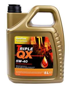 TRIPLE QX Fully Synthetic Engine Oil Engine Oil - 5W-40 - 5ltr - £ 13.72 with Code: OIL25 - Carparts4less