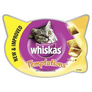 Whiskas Temptations Cat Treats with Chicken and Cheese, 60 g - Pack of 8 - £5.70 @ Amazon (Sub & Save)
