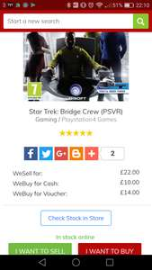 Star Trek Bridge Crew at Cex Online - £22 (plus £2.50 P&P)