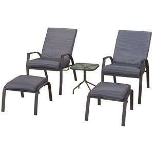 Vilamoura reclining chairs. Footstools and table - £95 @ Homebase