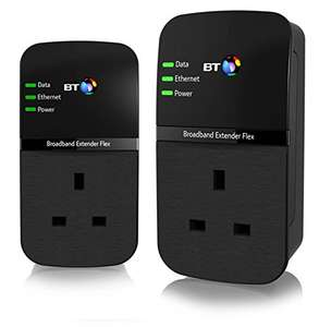 BT Broadband Extender Flex 500 Kit, Pass Through Powerline Adapters - Twin Pack £19.99 @ Amazon Prime (historic low)