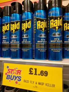 Raid - Fly & Wasp Killer (300ml) for £1.69 @ home bargains