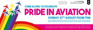 Pride in Aviation family/LGBT day Sun 27th August at City/Barton Airport, Salford Greater Manchester
