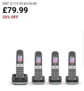 BT 8610 Cordless Telephone with Answering Machine – Quad at Robert Days for £67.99