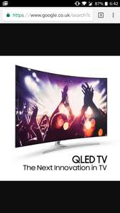 49inch Samsung qled curved tv at Currys for £1499