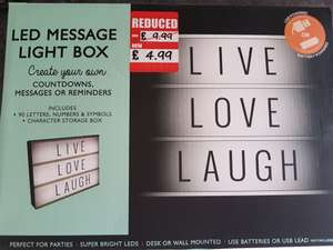 Light box £4.99 at QD IN STORE (online too but £2.49 del)