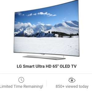 "LG smart ultra HD 65"" curved  oled tv at Groupon for £1999"
