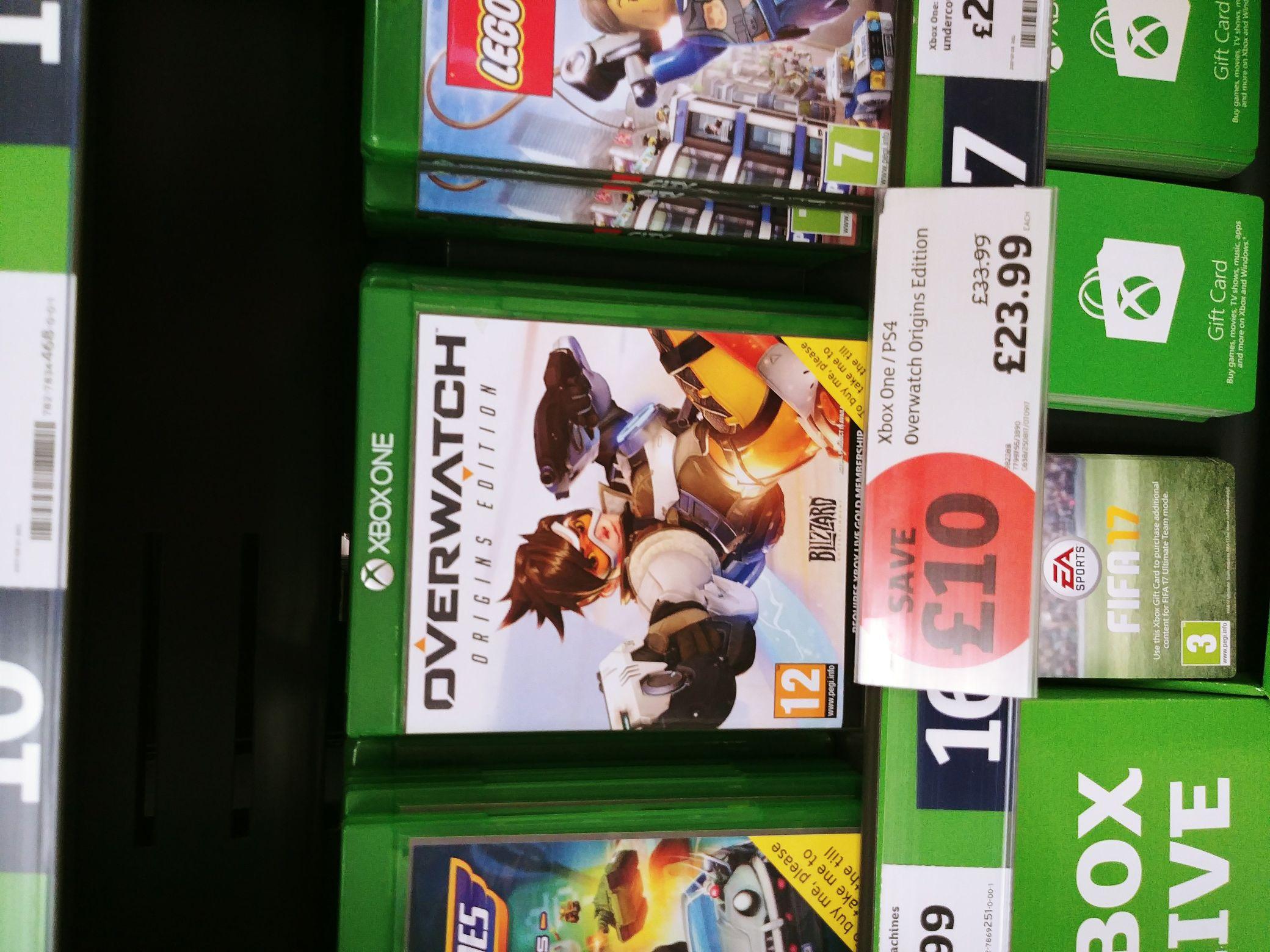 Overwatch Xbox One - Sainsburys (instore) - £23.99