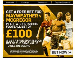 Betfair Free Boxing Bet Offer - Bet up to £100 on Football today and receive a matched free bet for Boxing.