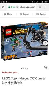 LEGO Super Heroes DC Comics Sky High Battle £30 at John Lewis with free c+c