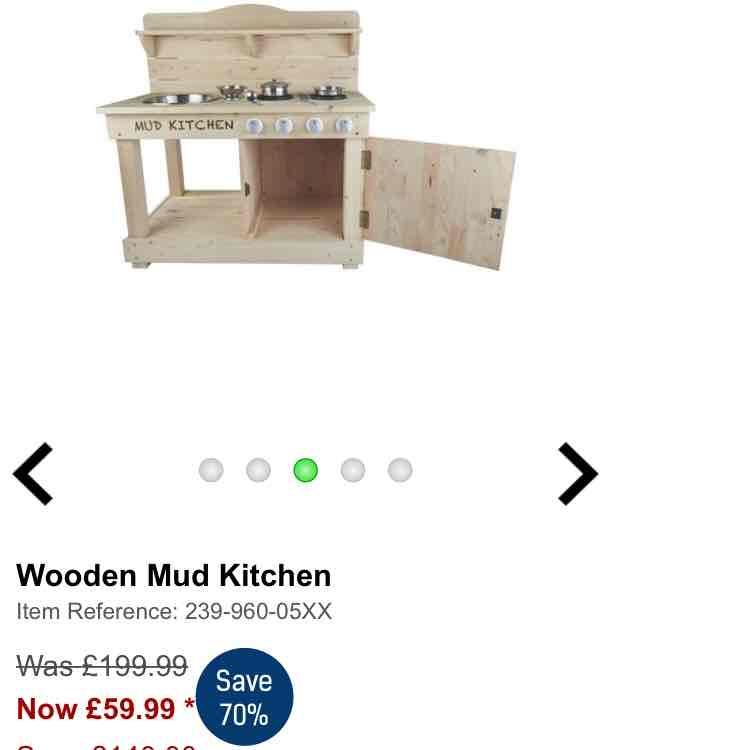 wooden mud kitchen - £49.99 (with code) @ Studio