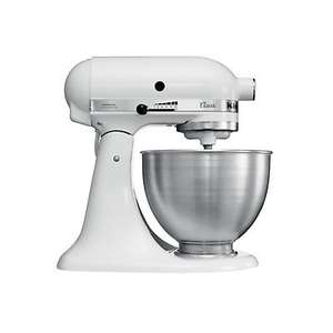 KitchenAid 5K45SSBWH 4.8 L Classic Stand Mixer - White REFURBISHED - £169.15 @ eBay (Kitchenaid Outlet)