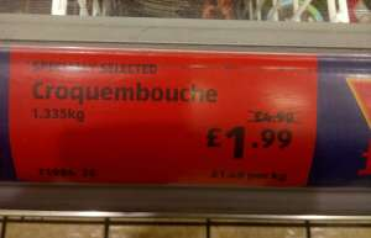 60 Profiterole Croquembouche Kit £1.99 @ Aldi Instore
