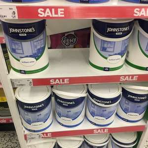 Johnstone's paint 5 litres tin reduced to £9 Asda in store