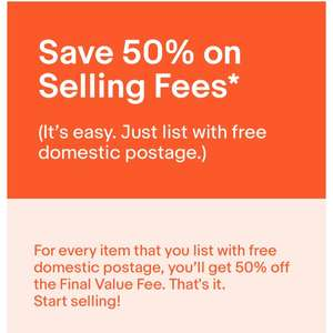 50% off FVF on eBay with free postage listing