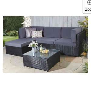 rattan effect corner garden set for £133.49 + free Delivery with code @ Studio