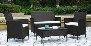 EBS Rattan Patio Garden Furniture Set £103.99 delivered using 20% off voucher sold by SYM UK and fulfilled by Amazon