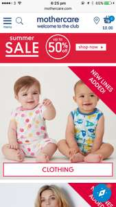 50% SALE in mothercare online & instore! See OP for examples