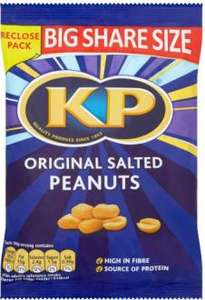 KP Original Salted Peanuts (450g).... £3 for 2,   at FarmFoods