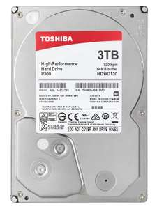 "Toshiba P300 3TB 7200RPM 3.5"" SATA Internal Hard Drive - £69.97 @ Amazon"