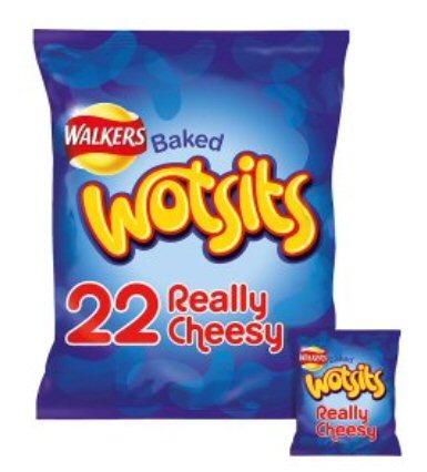 Walkers Wotsits 16.5g    22 packs for £2.75 @ Asda