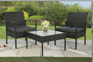 3 piece rattan effect lounge set from Studio for £44.99