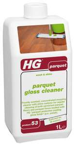 HG Wood & Parquet Wash and Shine Gloss Cleaner £1 addon item @ Amazon