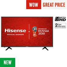 Free same day delivery on Hisense TVs @ Argos