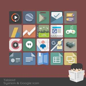 Tabloid Icon Pack - free @google play store