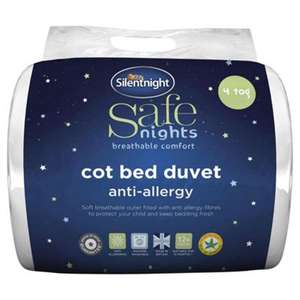 Silentnight Anti-allergy Cot Bed Duvet at Tesco - £7.00