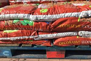 40L bags of Decorative Woodland Chip Bark was £2.49 now only 50p per bag @ B&M Stores