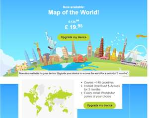 Map of the World (TOMTOM GO) £19.95 [Account specific by invite] @ Tomtom