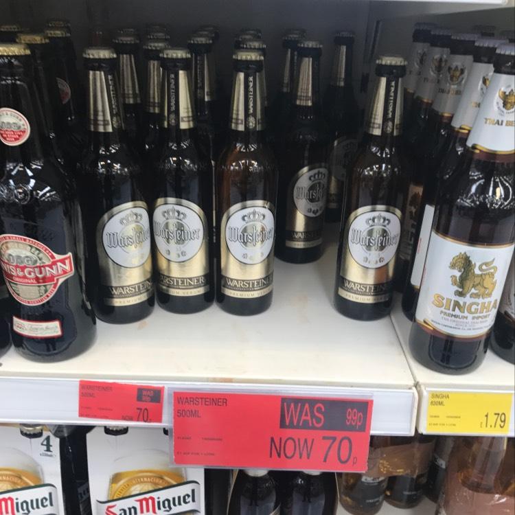 Warsteiner beer 70p B&M bargain