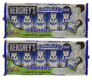 Half Price * Hershey's Cookies n Crème Bunnies, 204 g (Pack of 2, Total 12 Pieces) £3.52 Prime or  £8.27 non prime @ Amazon