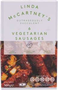 Linda McCartney Vegetarian Sausages (6 x 50g) was £2.00 now £1.00 / Linda McCartney Mozzarella Quarter Pounder Burger (2 x 113g) was £2.00 now £1.00 @  Morrisons