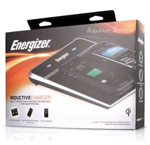 Energizer Dual Qi Wireless Charger Induction Charging Pad Mat + USB Port Station  reduced to clear £10.89 + Free Delivery on eBay / finebargains
