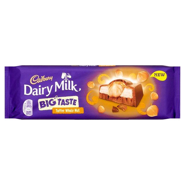 Cadbury Dairy Milk Big Taste Toffee Whole Nut Chocolate Bar 300g £2 (was £3) @ Sainsbury's