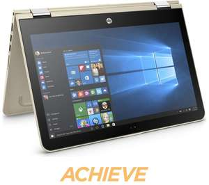 """HPPavilion x360 13.3"""" 2 in 1 - Modern Gold, £579.97 with £50 Cash back from currys £529.97 after cash back @ Currys"""