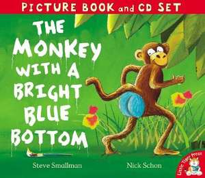 The Monkey With A Bright Blue Bottom : Book & CD Set by Steve Stallman only £1.75 delivered @ The Works