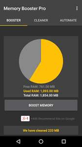 FREE Memory Booster (Pro) app for Android @ Google Play