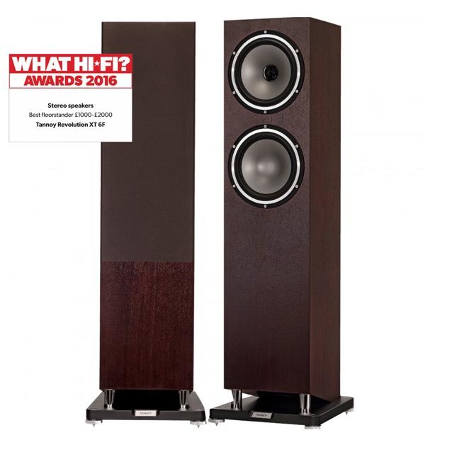 Tannoy Revolution XT6F floorstanding speakers (what hi-fi 5*)hi fi floorstanders £799 @ richersounds